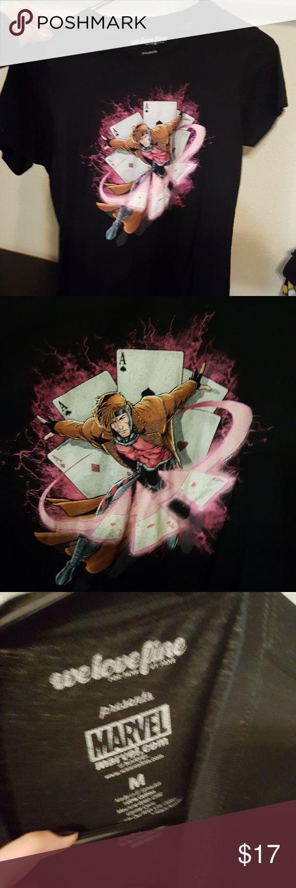 X-men gambit shirt Gambit from the xmen Marvel Tops Tees - Short Sleeve