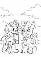 Paw Patrol coloring pages - kolorowanka z bajki Psi Patrol