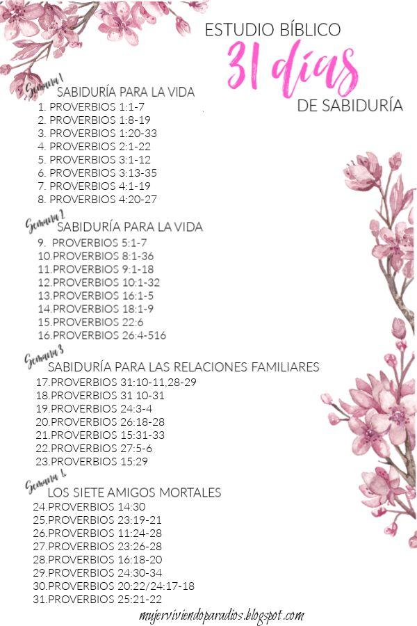 Estudio bíblico de 31 días de sabiduría