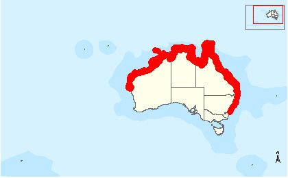 Species Distribution Map dugong http://www.environment.gov.au/cgi-bin/sprat/public/publicspecies.pl?taxon_id=28