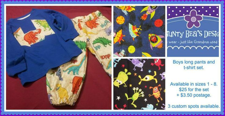 Boy's Long Sleeved appliqued top and matching cotton fabric pants. Winter Wonderland Market Night opens at 9pm, on Tuesday 27th May, 2014. The first person to comment sold will be able to purchase the item direct from the business listed on the item.