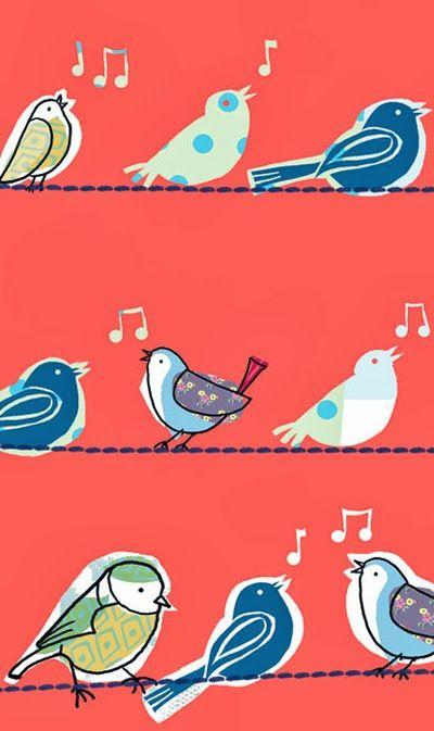 cute bird print