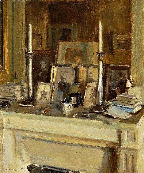Chez Helleu . La Cheminee, by Walter Gay, 1909