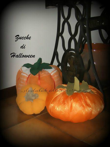 Zucche di Halloween in stoffa