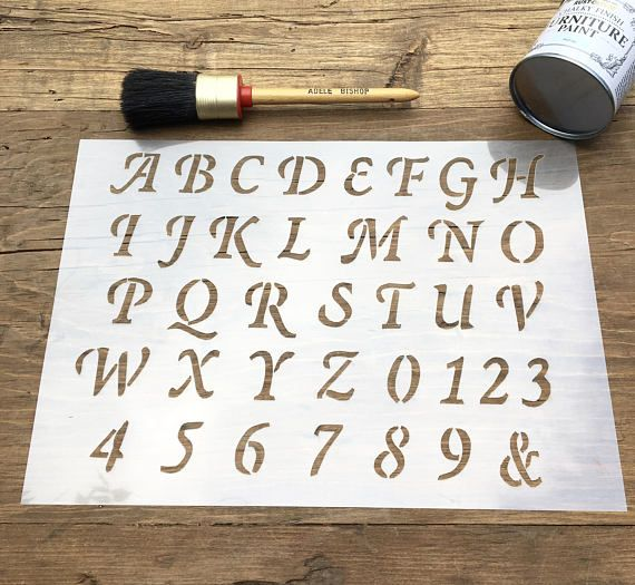 Best 104 ablny images on pinterest stencils stencil templates old english stencil letters stencil abc numbers stencil spiritdancerdesigns Images