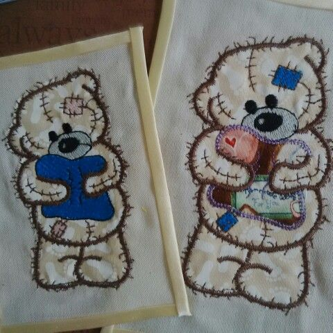 More adorable appliqué and embroidered teddy bears