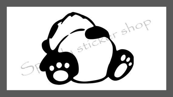 Car Decal Sleeping Baby Panda Car Sticker