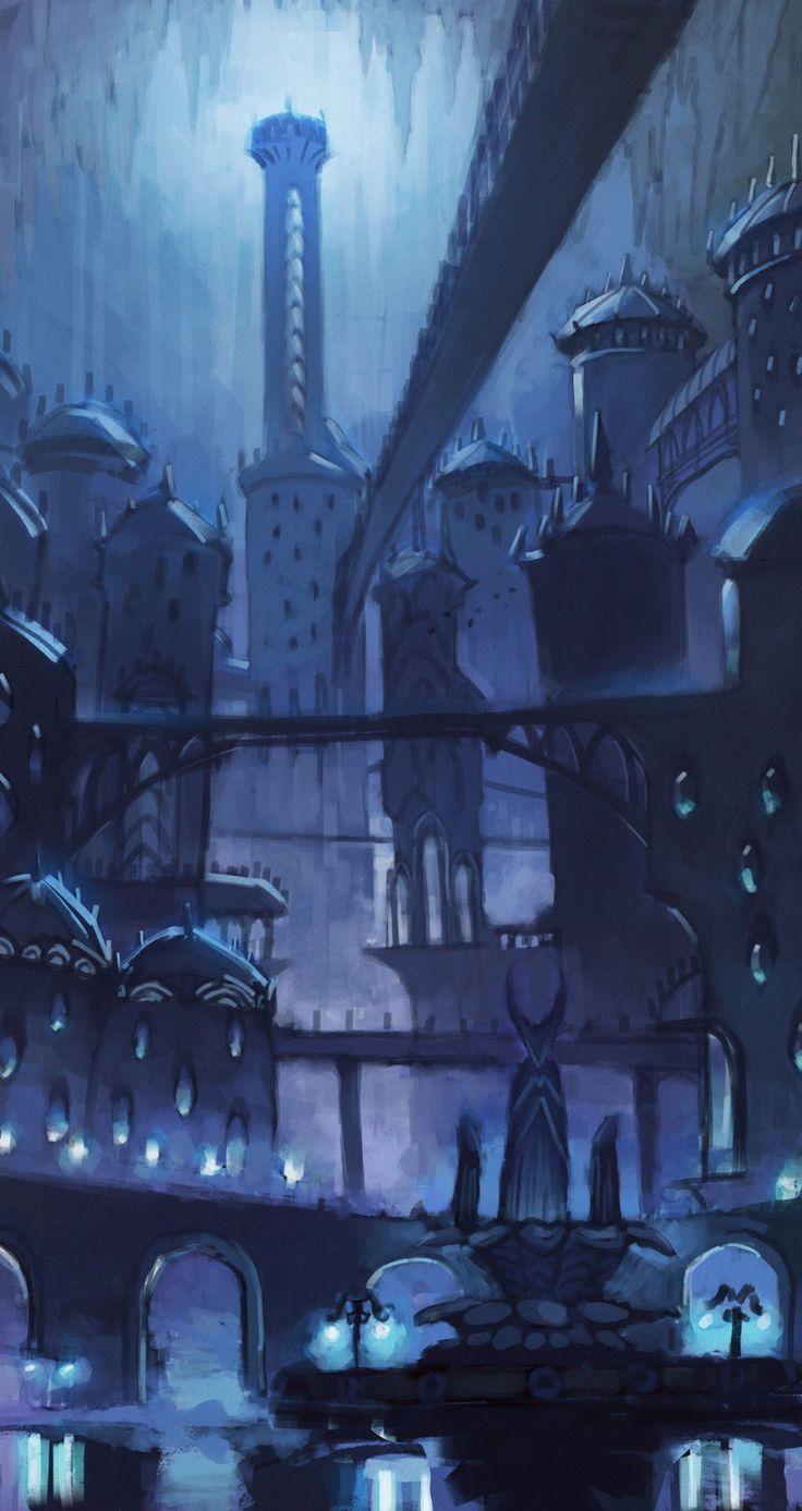 OC] City of Tears HollowKnight Phone wallpaper