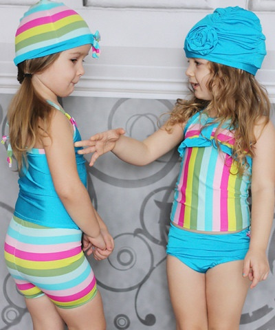 Santa Monica Sweetheart Tankini Swimsuit PDF Pattern For Girls (Go To Patterns)