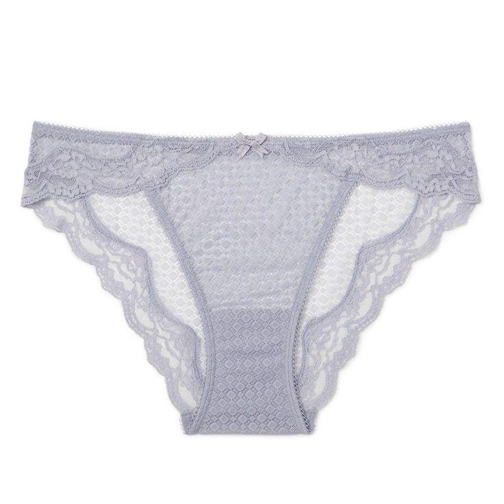 Women's Mesh Cheeky Bikini Misty Blue S