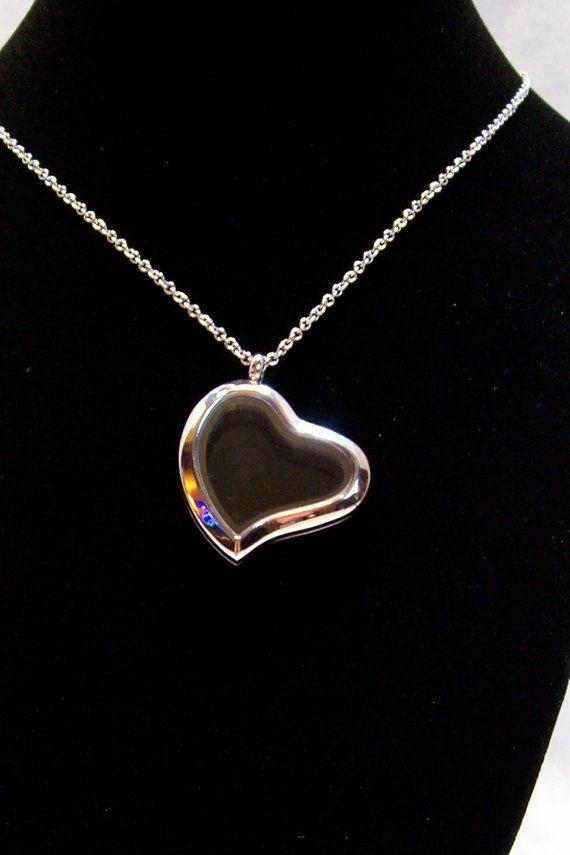 Locket Necklace Heart Locket by slipperyreef on Etsy