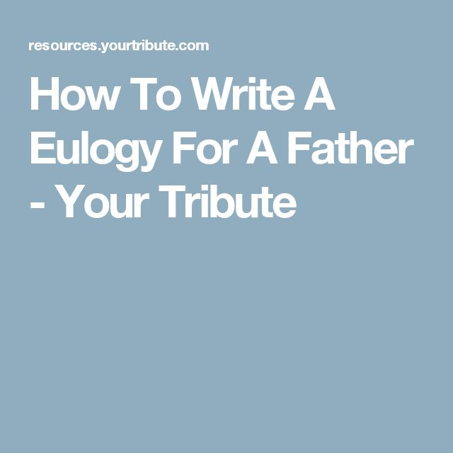 writing eulogy