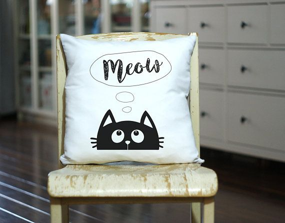 CAT Lover Gift, Personalized Cat Pillow, Crazy Cat Lady Gift, Gift for Her, Cat Gift, Cat Pillow, Cat Theme, Kitty Pillow, Meow, Love Cats