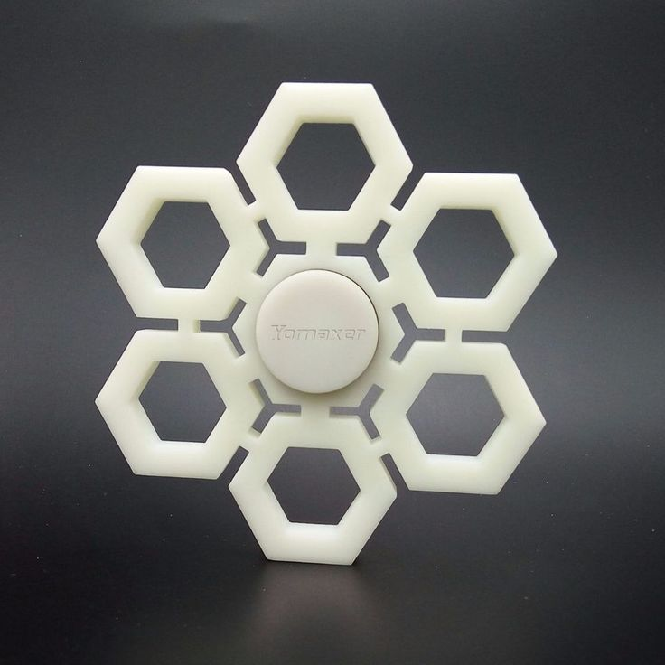 3D Printed Snowflake Shape EDC Fidget Spinner Toy For ADHD Austim Xmas Gift #Unbranded
