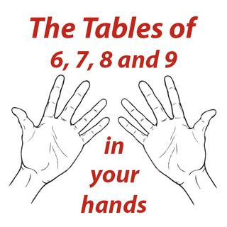 Tables of 6, 7, 8 and 9 in your hands Really helpful way for students who have trouble memorizing their tables (like I did, wish I'd had this)