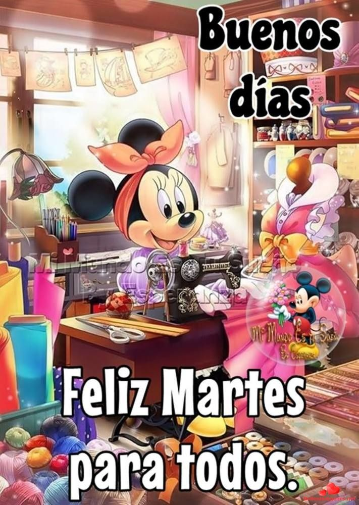 Feliz Martes Hermosas Imágenes Para Descargar De Forma Gratuita Y Para Compartir En Facebook Y Whatsapp Con Amigos Mickey And Minnie Kissing Mickey Mosaic Diy