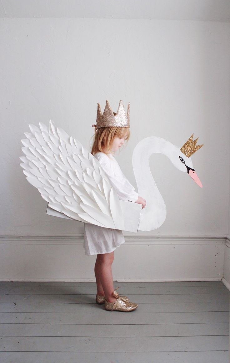 DIY Swan Costume, kids