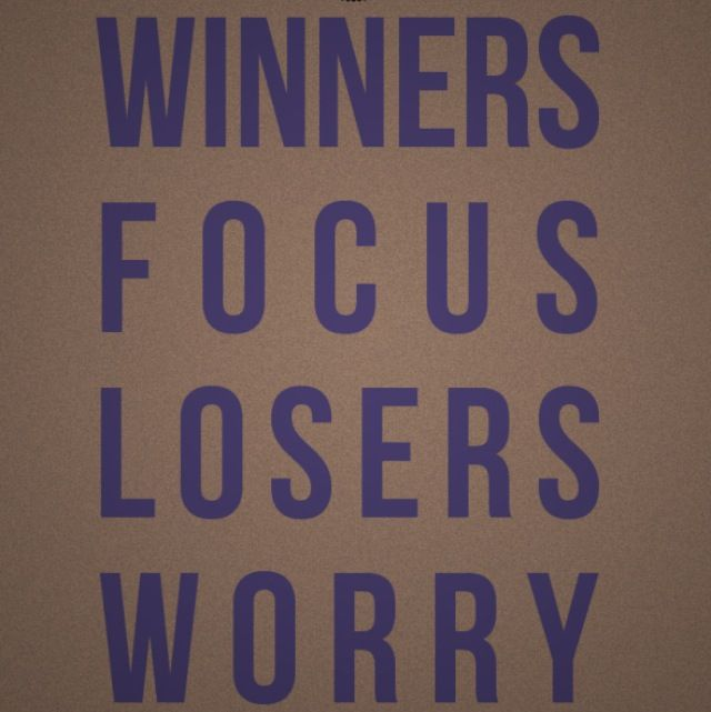 Facebook Is For Losers: Winners Focus Losers Worry Quote
