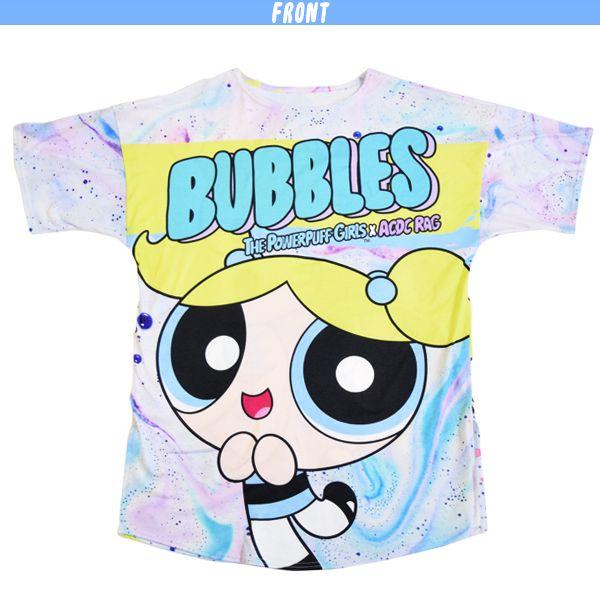0330c471b The Powerpuff Girls x ACDC RAG collaboration item Bubbles Big T-shirt PPG  Harajuku Tokyo Japan Harajukukei POP Blossom Buttercup