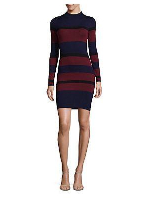 BCBGeneration Bold Stripe Bodycon Dress