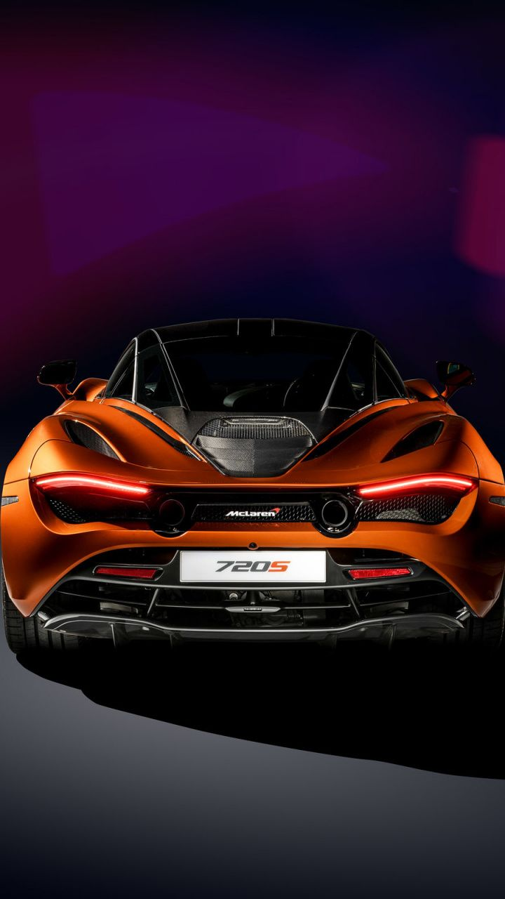 Mclaren 720s Sports Car Rear View 720x1280 Wallpaper Sports