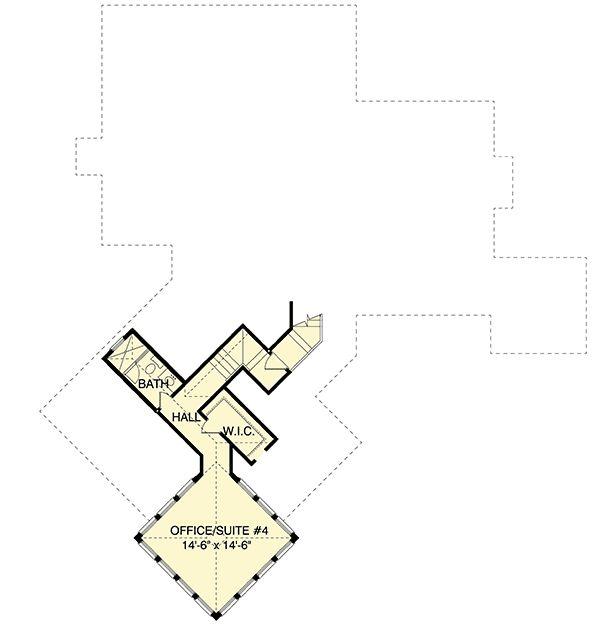 Plan 93018EL: Unique Tower Office