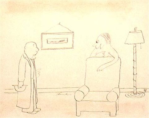 Since I saw you last I've gone nudist, do you mind? by James Thurber
