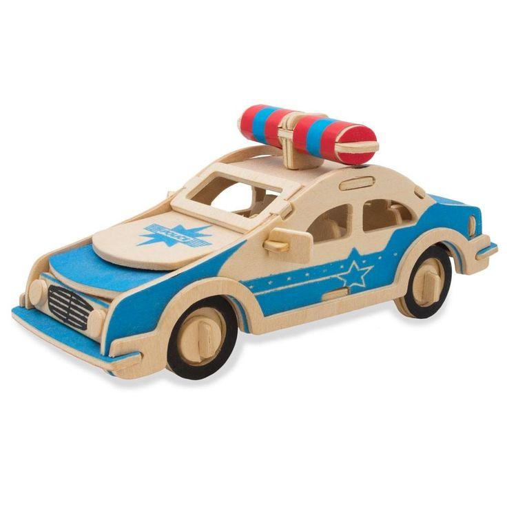 Police Car Model Kit Wooden 3D Puzzle