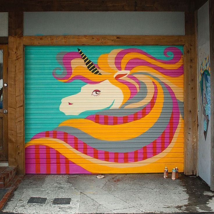 The year 1856 Egmont st tells the tale of a poor abandoned dead horse with no owner to speak of. What do horses turn into when they die? Unicorns. Welcome to 2016 dear pony ghost.  My latest mural project aerosol on corrugated steel. #nzart #streetart #nzartist #mural #unicorn #wellingtonnz