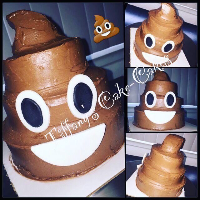 Emoji poop cake!!! My faaaaave emoji lol. www.facebook.com/tiffanyscakecakes