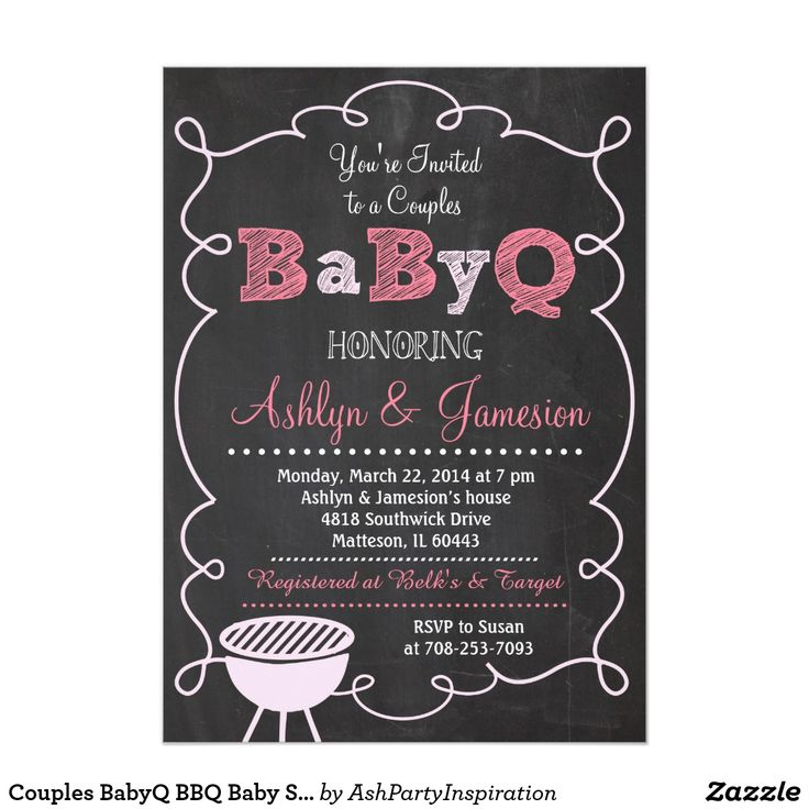 115 best bbq invitations images on pinterest | bbq, couple shower, Baby shower invitations