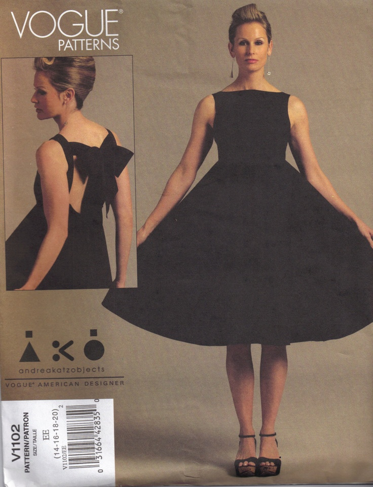 Andrea Katz Objects Ako Dress Vogue Patterns V1102