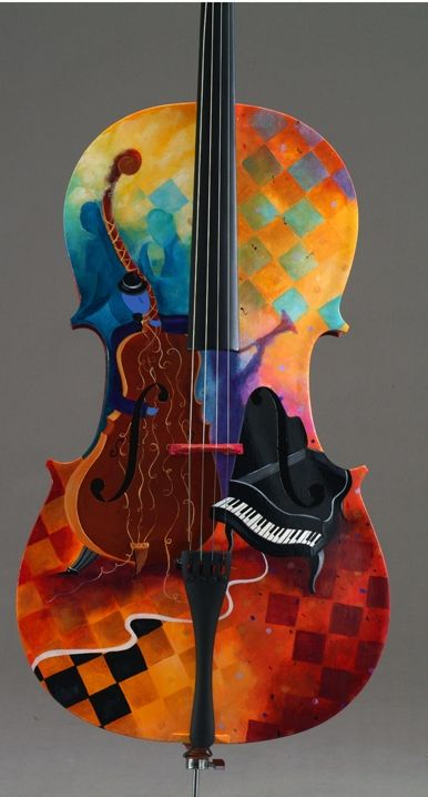Hand-painted cello--One cool cello...