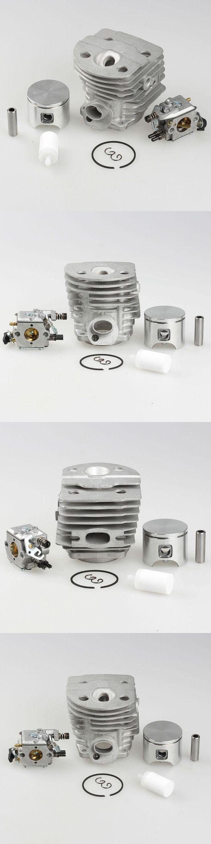 New 46mm Cylinder Piston Kits for Husqvarna 55 51 Walbro Carburetor Fuel Filter Chainsaw parts # 503 60 91-71