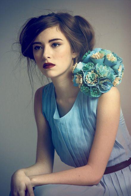 pretty: Hair Beautiful, Romantic Hair, Bridesmaid Dresses, Paper Art, Hatti Newman, Girls Hairstyles, Paper Design, Hair Style, Female Photography