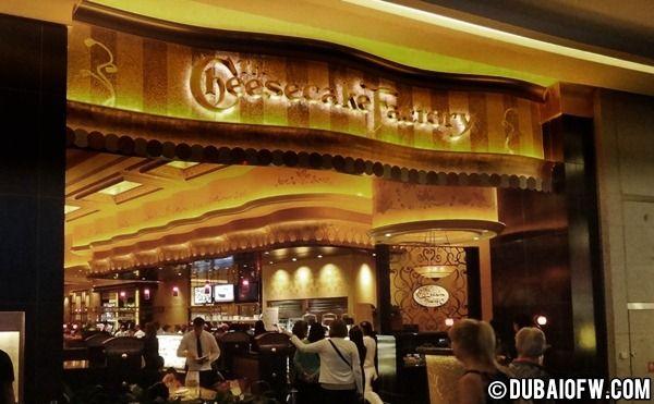 Cheesecake Factory . Dubai mall. Mmmm
