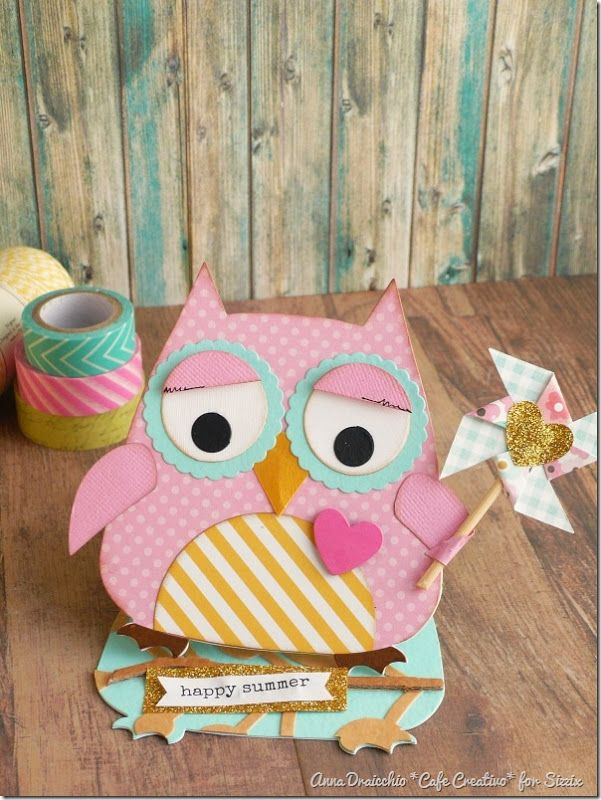 Easel Card Owl - sizzix bigshot plus by cafecreativo (1)