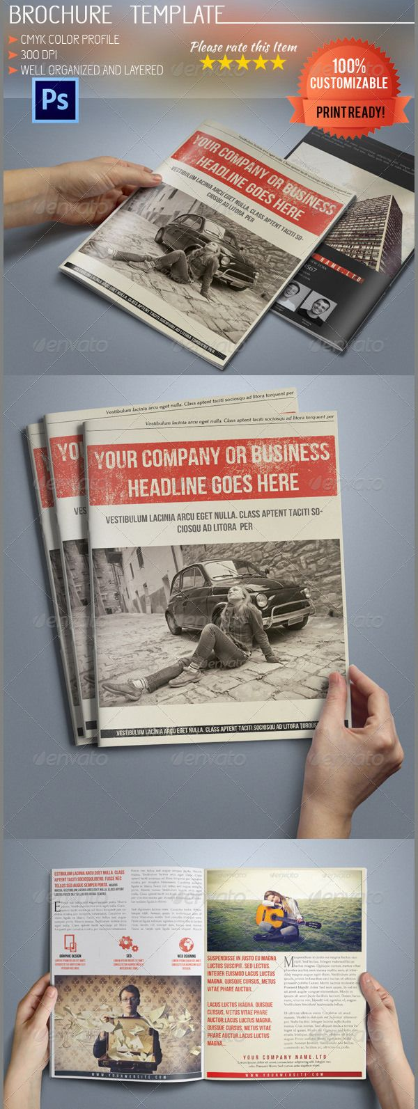 17 best ideas about brochure templates 35 best retro brochure templates premium templates