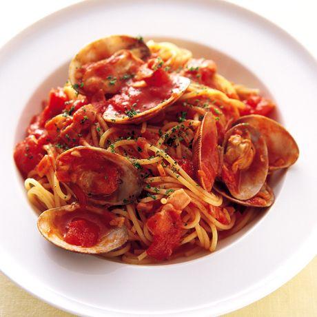 あさりとベーコンのトマトスパゲッティ | 井澤由美子さんのパスタの料理レシピ | プロの簡単料理レシピはレタスクラブニュース