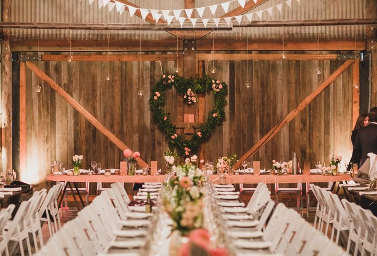 Beautiful florals by Moss Industry at The Barn. Photo Credit: Jason Vandermeer