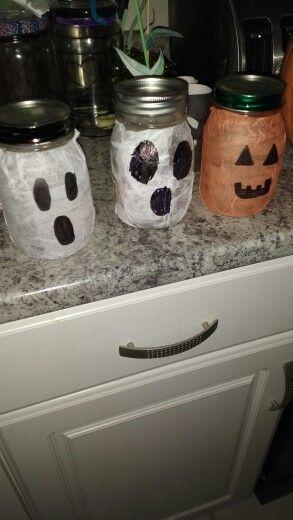 Halloween tissue paper lanterns