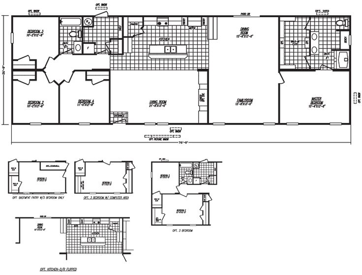 78 images about floor plans on pinterest modern for Mobile home layouts and prices