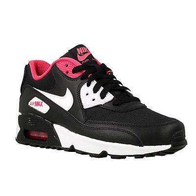 Nike Air Max 90 Mesh Gs Big Kids 833340 002 Black Vivid Pink