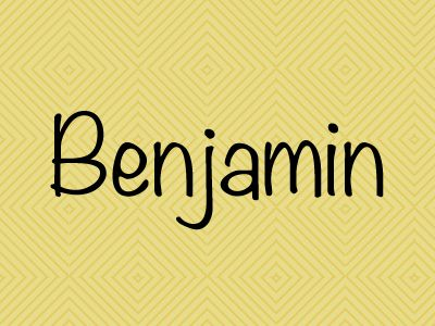 Benjamin. Did you know this is one of the most popular names for boys in Canada, and Germany's top baby name in 2012? Click through for 10 more popular boys names.