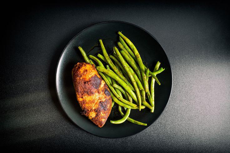 Domowy Kurczak Sous-Vide z fasolką szparagową