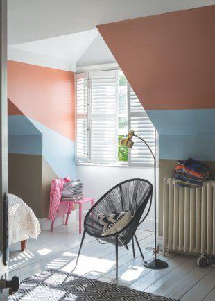 les 42 meilleures images du tableau mur graphique en peinture sur pinterest chambre enfant. Black Bedroom Furniture Sets. Home Design Ideas
