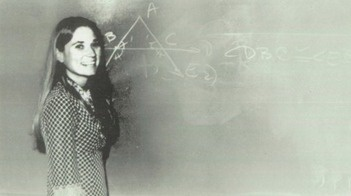 Math teacher Janice King in the 1973 yearbook of Agoura high school in Agoura Hills, California.  #1973 #Agoura #MathTeacher #yearbook