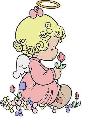 Anjinho com flores