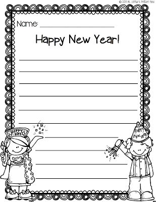 new years writing paper freebie educational ideas writing writing paper classroom