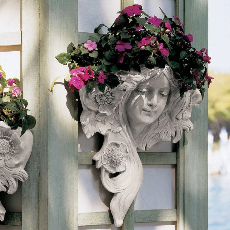 Le Printemps and Le Etoile French Greenmen Wall Décor